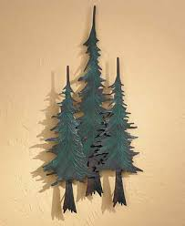 on pine tree forest metal wall art with forest pine trees metal wall art wild wings