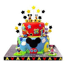 Mickey Mouse Birthday Cake Mickey Mouse Cake Ferns N Petals