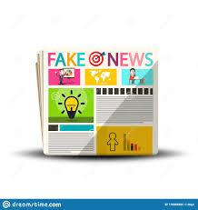 Design Product News Magazine Fake News Newspapers Newspaper Magazine Design Stock Vector