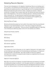 marketing resume objective .