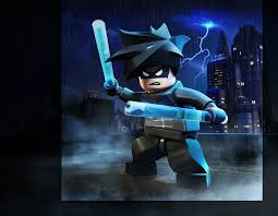 Colouring In Sheets Lego Man Batman Robin And Nightwing Nightwing