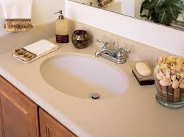 solid surface countertops. Attractive Solid Surface Countertops HGTV In Bathroom