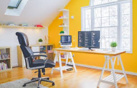 Yellow Office Most Beautiful Home Office Color Ideas Bee Home Plan