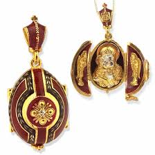 madonna and child sterling silver gold gilded egg pendant locket loading zoom