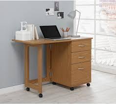 space saving desks space. HOME Dino 2 Drawer Space Saving Office Desk - Oak Effect Desks