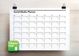 Callendar Planner Social Media Calendar Planner