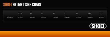 Shoei Nxr Size Chart Shoei Nxr Flagger Tc 5