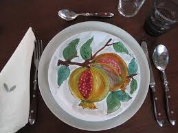 Italian Table Setting Eye On Design Inspiration For A Thanksgiving Table Just One