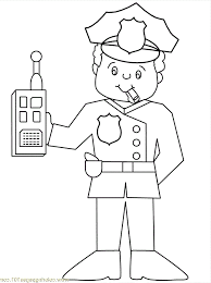 Police Officer Coloring Page 29932