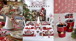 Decoration De Table De Noel Rouge Et Blanc | Exactjuristen