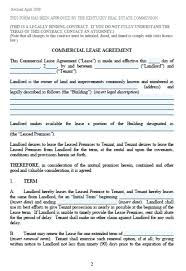 Commercial Lease Agreement Contract – Template Gbooks
