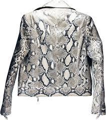 genuine python snake leather jacket snjacket02pt natural genuine python snake leather jackets retail and whole python snake skin jackets by
