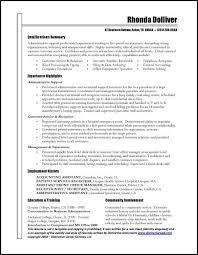Sample Executive Admin Administrative Assistant Resume Format