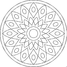 Kleurplaten Mandala Kind