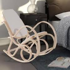 white wooden rocking chair. Image Is Loading White-Wooden-Rocking-Chair-Padded-Seat-Backrest-Rocker- White Wooden Rocking Chair