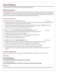 paraprofessional resume