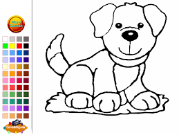 dog coloring pages drawing games