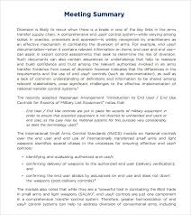 Sample Meeting Summary Template 7 Documents In Pdf