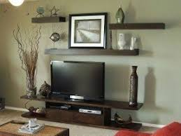 Shelves above tv