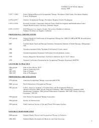 Sample Resume For Occupational Therapist Best Of Complete Curriculum Vitae