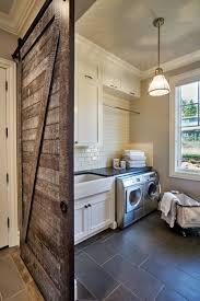 reclaimed wood barn door for laundry room