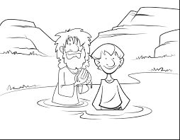 Jesus Baptism Colouring Pages Free Coloring Pages