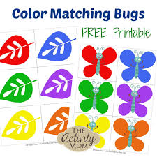 This free printable 'catch a bug' game is easy to put together and fun to play. The Activity Mom Color Matching Bugs The Activity Mom