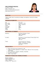 Educational Attainment Example In Resume Resume Samples Emilyn