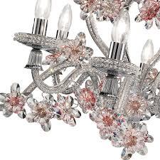 elegant fl design silver crystal chandelier