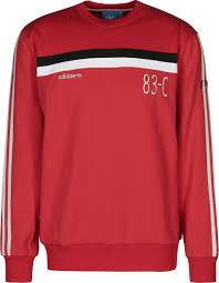 adidas 83 c. adidas 83-c crew sweater red white black 83 c i