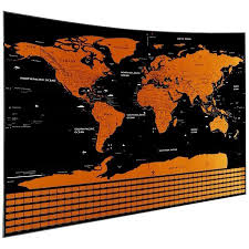 Large Us Map Poster Mojco Scratch Off Map Of The World Travel Poster W Country Flags Us States Outlined Shiny Glossy Finish Large Full Size