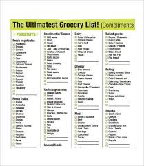grocery list template printable printable grocery list template 7 free pdf documents download
