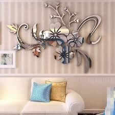 3d mirror floar art vinyl removable wall sticker acrylic decal home decor diy w