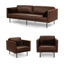 modern simple living room leather