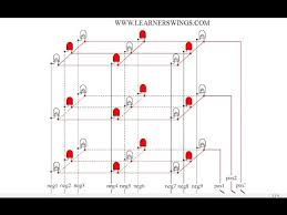 led cube wiring diagram led image wiring diagram circuit to create patterns in 3 3 3 led cube using 555 timer on led