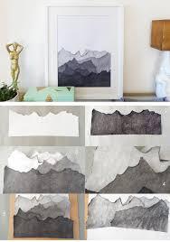 diy landscape wall art diy home decor ideas on a budget diy home decorating
