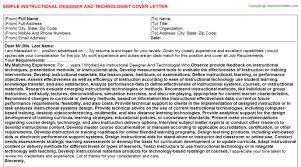 Instructional Designer And Technologist Cover Letter