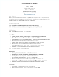 Cv Word Doc Template