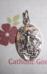 details about saint st michael the archangel pray for us italian silver tone ox 1 medal