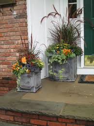 Fall Container Plantings  Ornamental Kale Chartreuse Sweet Container Garden Ideas For Fall