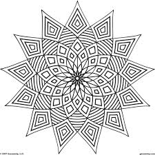 Small Picture Geometric Pattern Coloring Pages glumme