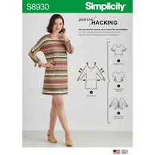 Details About Simplicity 8930 Paper Sewing Pattern Miss Xxs Xxl Hacking Knits Only Dress Top