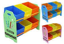 toy storage units.  Storage Kiddi Style Childrens Crayon Wooden Storage Unit6 BinsToy Organizer  Kids  In Toy Units S