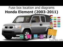 2007 honda element fuse box data