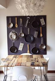 Hanging Pan Racks For Kitchen 6 Simple Hanging Storage Solutions In The Kitchen Bonito Designs