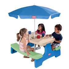 easy picnic table with umbrella