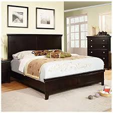 24/7 Shop at Home 247SHOPATHOME IDF-7113EX-CK Bed-Frames, California King, Espresso