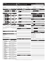 dnd 3 5 character sheet fill any pdf free forms for character page 1