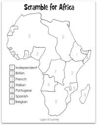 scramble for africa map sonlight core d  scramble for africa map