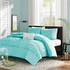 Amazon.com: Turquoise, Blue, Aqua Girls Full / Queen Comforter Set (4 Piece  Bed In A Bag): Home & Kitchen